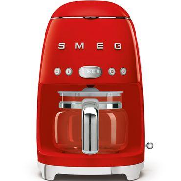 SMEG DCF01RDEU Filter-Kaffeemaschine, Farbe Rot, 50`s Retro-Style