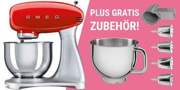 Smeg SMF01CREU Küchenmaschine rot (inkl. 208€ Zubehör)