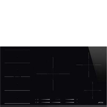 SMEG SI1F7955B Einbau-Induktionskochfeld, 90cm, Neutrales Design, Schwarze Glaskeramik, Facettenschliff inkl. 5 Jahre Garantie