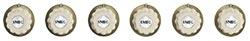 SMEG 6MP700RA Set aus 6 Knebel in  Creme / Messing Antik, Designlinie Cortina
