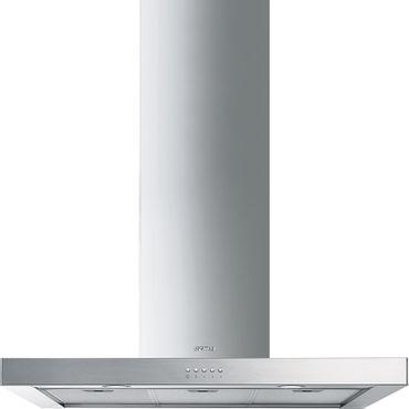 SMEG KS70XE-2 Dekor-Wandhaube, 70 cm, Neutrales Design, Edelstahl inkl. 5 Jahre Garantie
