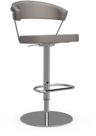 Calligaris Barhocker New York Leder CS/1088, Gestell metall verchromt
