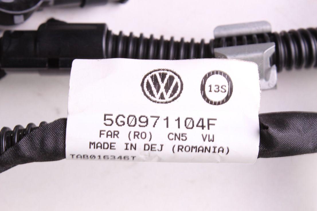 5G0971104F VW Golf 7 Kabelbaum mit 6 PDC Sensoren Heckstoßstange LA7W 5Q0919275