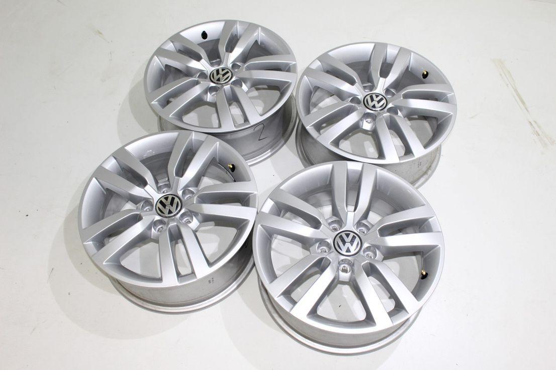 VW Tiguan 5N0 16 Zoll Alufelgen Portland Winterräder Dunlop 5N0601025AD 886