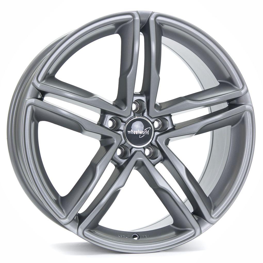 4 x Alufelge Wheelworld WH11 8x18 ET35 Daytona Grau glänzend lackiert DG+