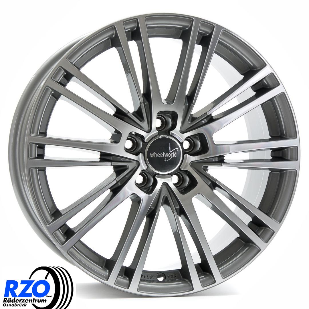 4 x Alufelge Wheelworld WH18 8,5x19 ET45 Race Silver RS