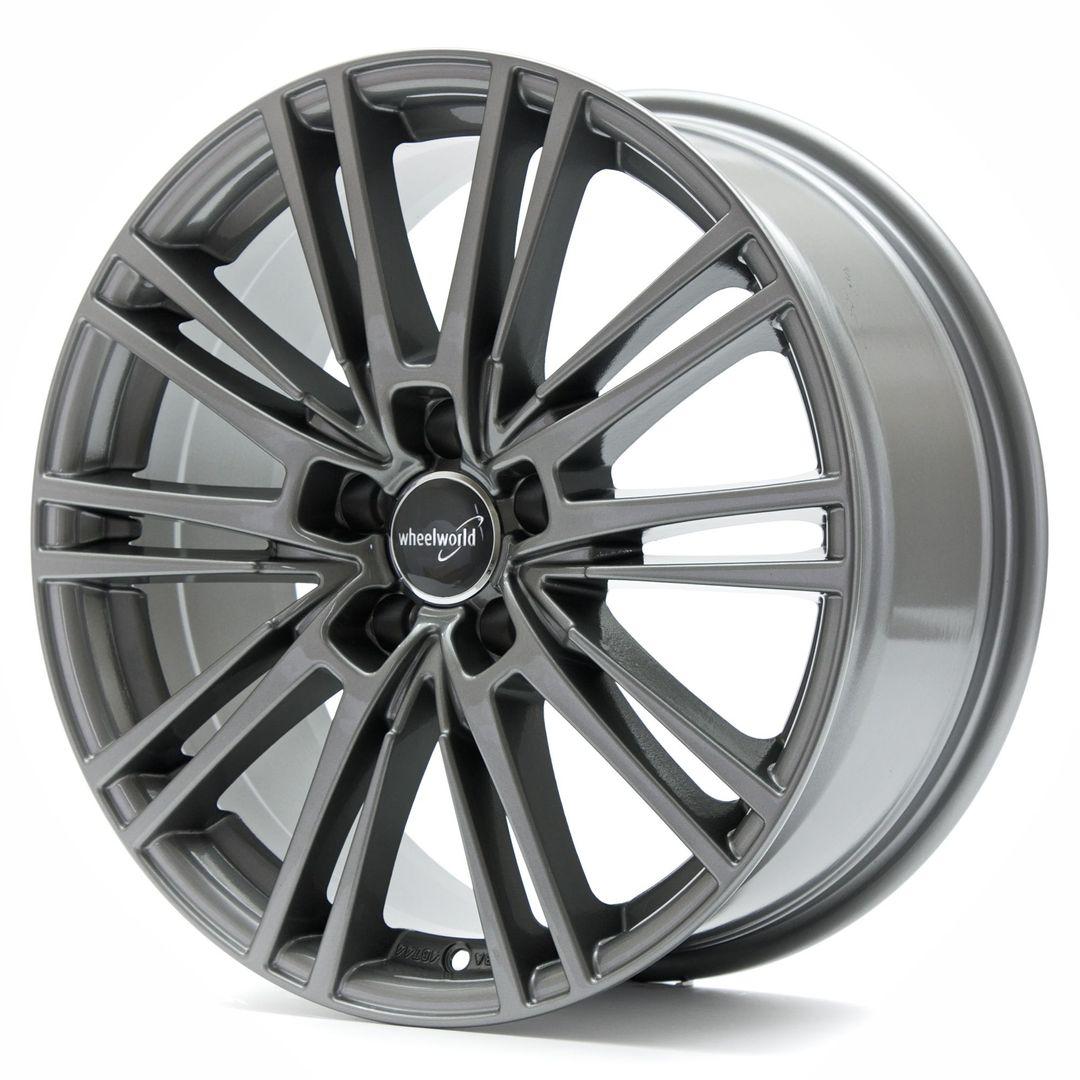 4 x Alufelge Wheelworld WH18 8,5x19 ET45 Daytona Grau glänzend lackiert DG+