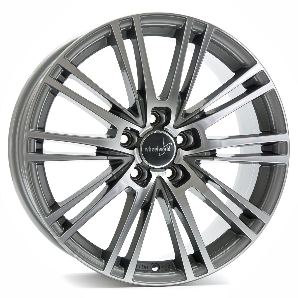 4 x Alufelge Wheelworld WH18 8,5x19 ET45 Race Silver RS