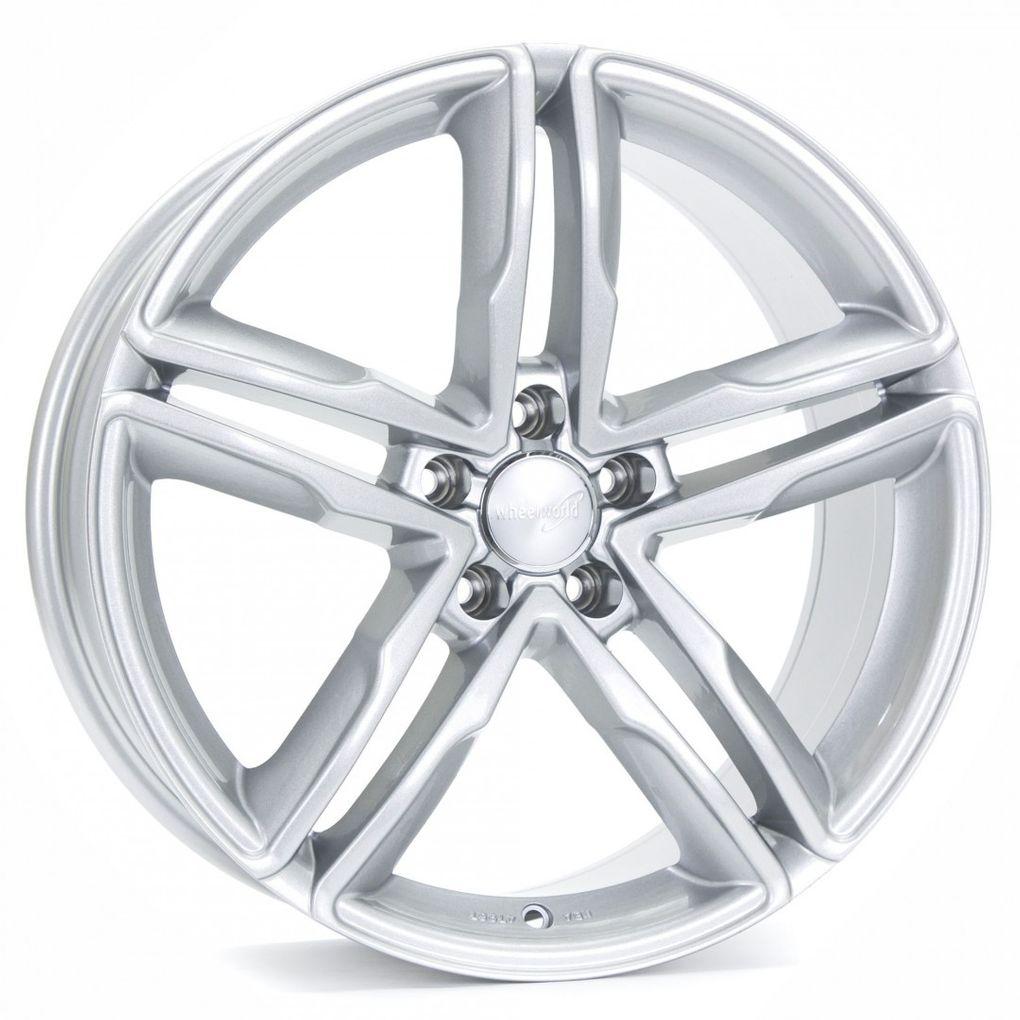 [Paket] 4x Sommerräder Wheelworld WH11 Audi A4 B8 8x18 ET35 Arktic Silber AS 235 40 18