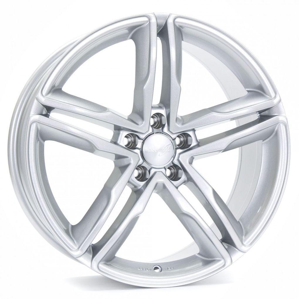 [Paket] 4x Sommerräder Wheelworld WH11 Audi A4 B8 8x18 ET35 Arktic Silber AS 245 40 18