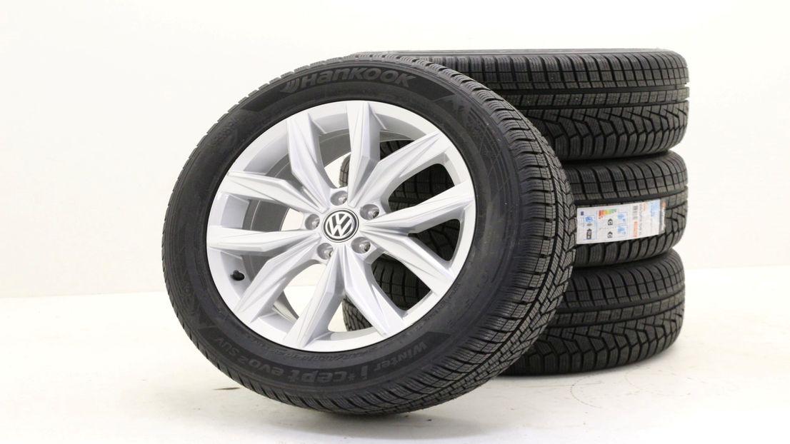 VW Tiguan 2 5NA Winterräder 235 55 18 Zoll Alufelgen Kingston 5NA601025B 2158