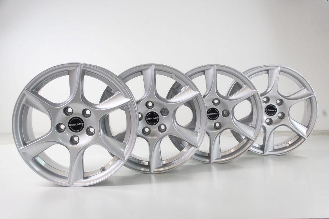 [Paket] Audi A4 B8 Borbet TL 75637 Winterräder 215 55 16 Zoll Alufelgen 124R-000081