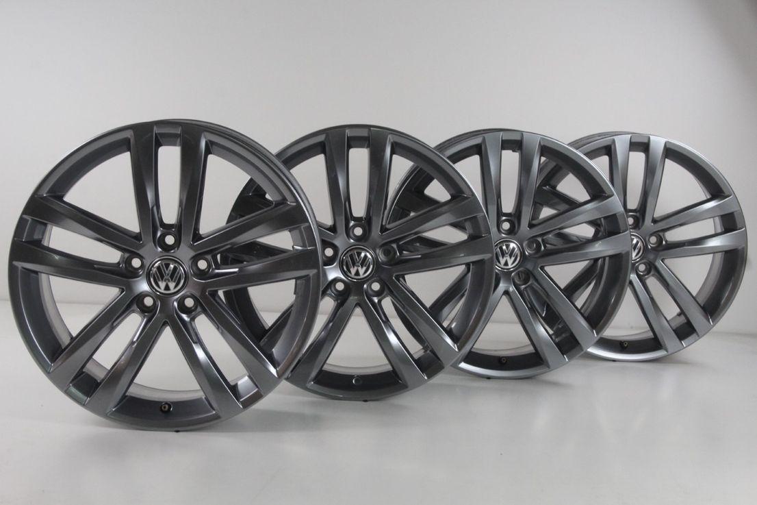 [Paket] VW Golf 7 GTD GTI R-Line Winterräder 225 40 18 Zoll Salvador Felgen 5G0601025AF