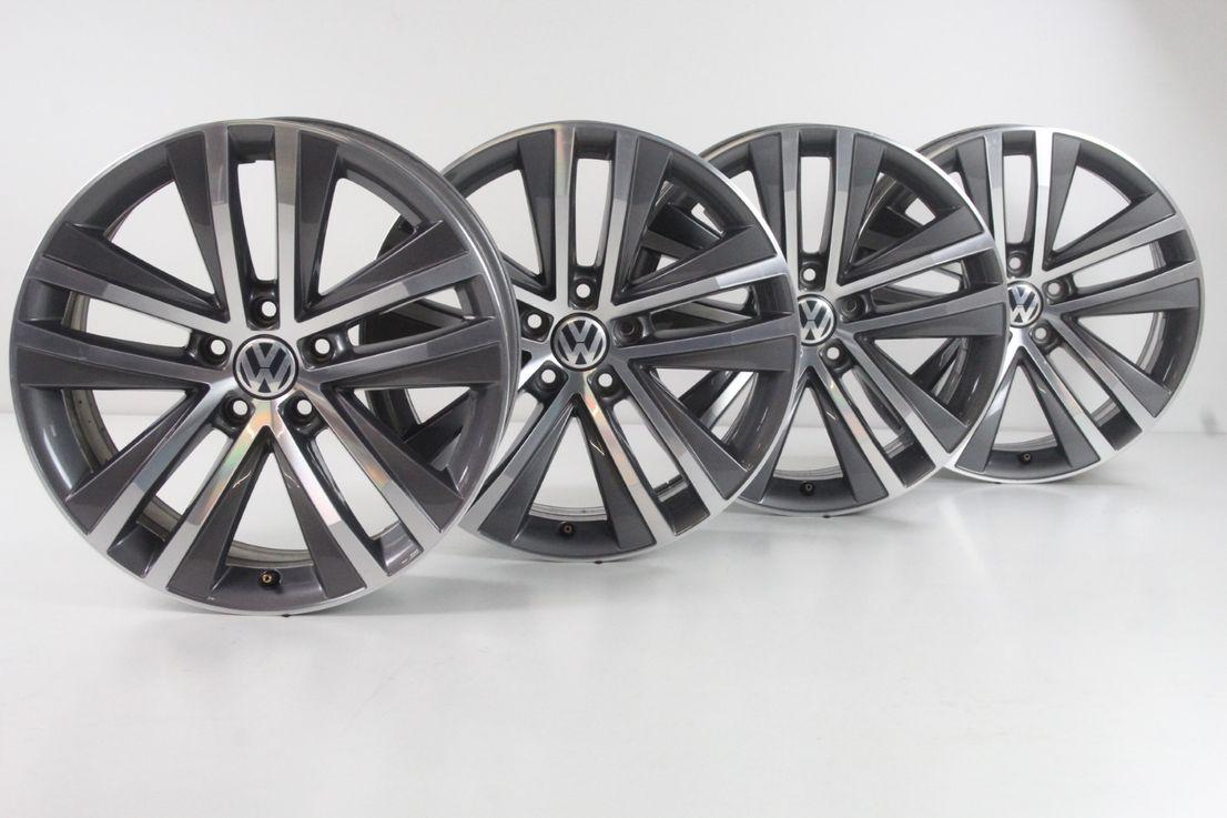 [Paket] VW Sharan 7N Winterräder Alufelgen 225 45 18 Zoll Felgensatz Toulon 7N0601025F