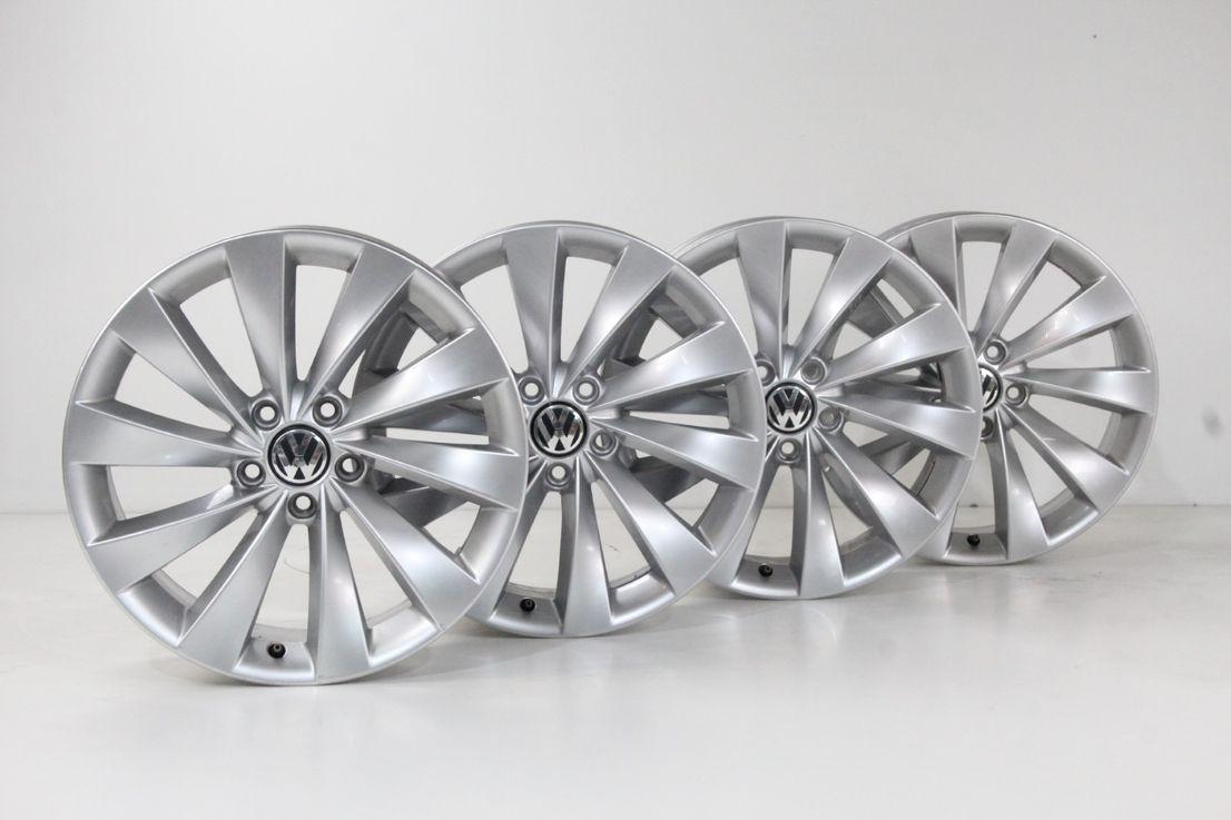 VW CC Scirocco Felgen 18 Zoll Alufelgen Interlagos Felgensatz silber 3C8601025D
