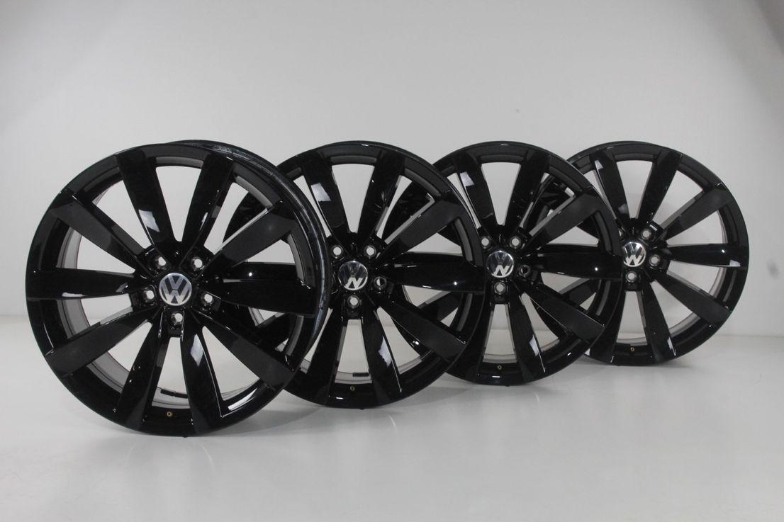 VW Scirocco 1K8 CC Felgen 19 Zoll Alufelgen Lugano schwarz Felgensatz 1K8601025S