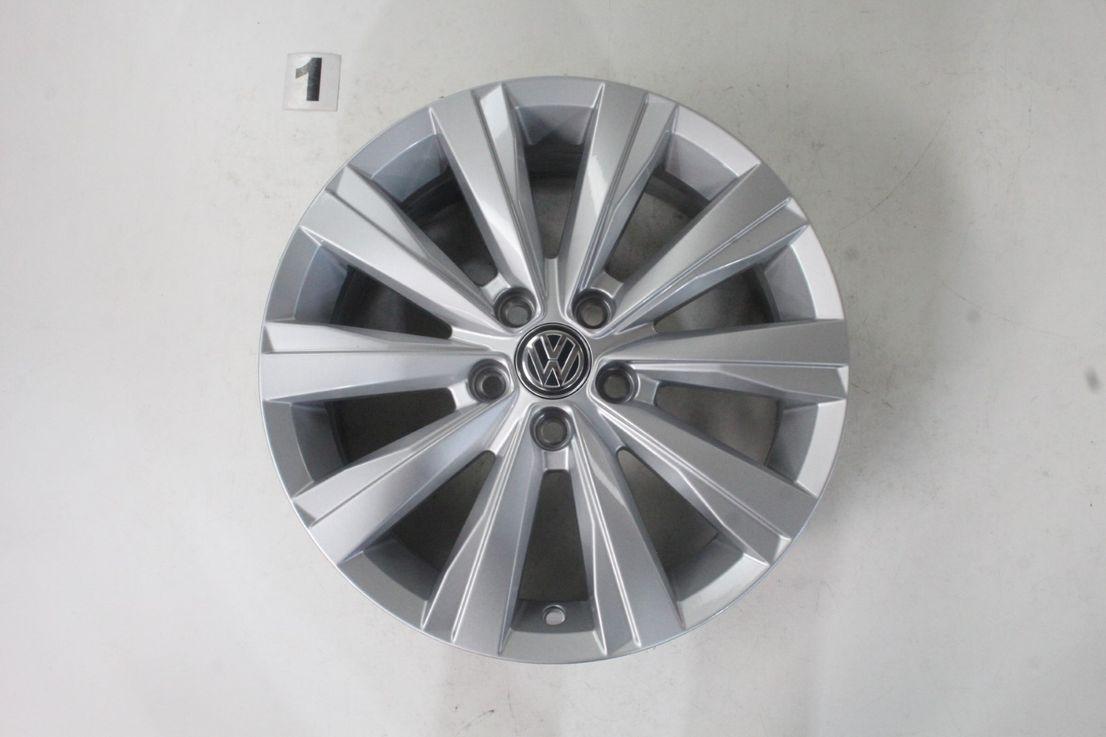 [Paket] VW Polo AW Allwetterräder Alufelgen Las Minas silber 195 55 16 Zoll 2G0601025S