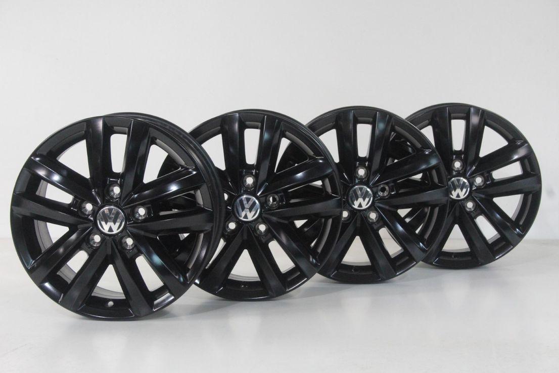 VW Amarok 2H Felgen Alufelgen 16 Zoll Felgensatz schwarz 2H0601025AE