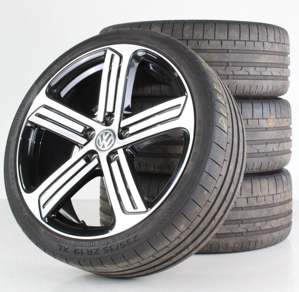 VW Golf 7 GTI GTD R TCR Sommerräder 19 Zoll Alufelgen Cadiz black 5G0601025AH