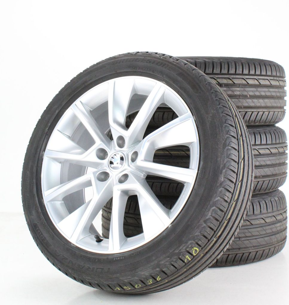 Skoda Karoq Sommerräder Bridgestone 18 Zoll Alufelgen Braga Felgen 57A601025D