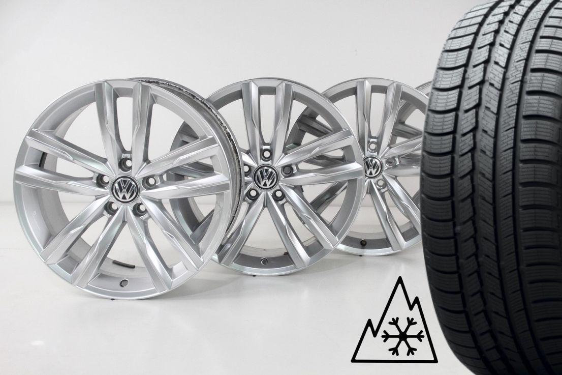 [Paket] VW Passat 3G B8 Winterräder Dartford silber 235 45 18 Zoll Felgen 3G0601025H
