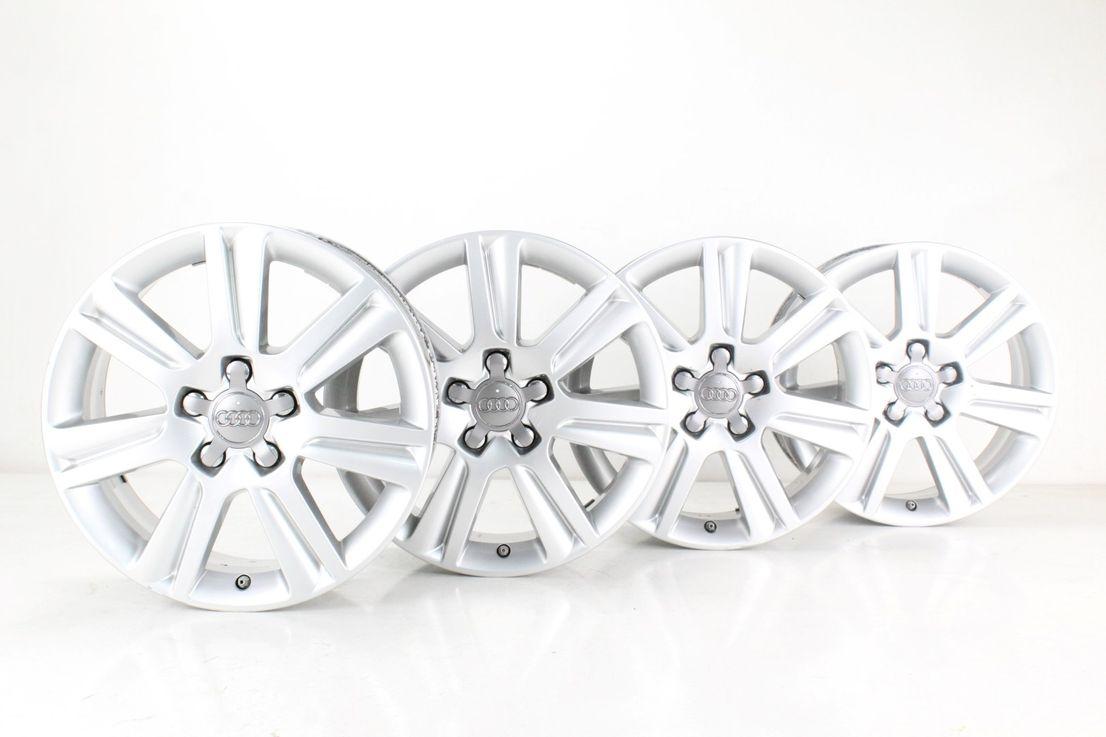 Audi A4 8K Alufelgen 17 Zoll Felgen silber Felgensatz 8K0601025N
