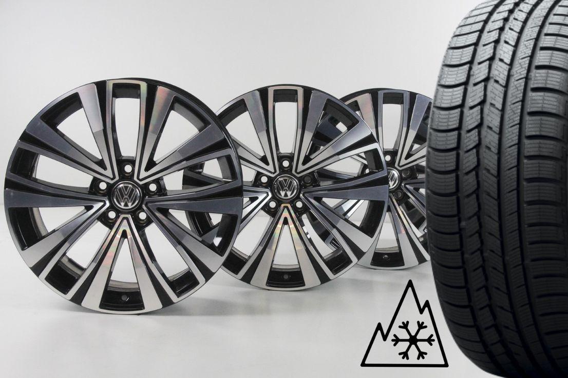[Paket] VW Arteon 3H Winterräder Alufelgen Muscat schwarz 245 45 18 Zoll 3G8601025F