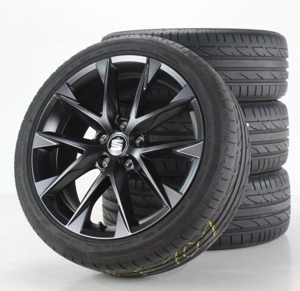 Seat Leon 5F Sommerräder 18 Zoll Alufelgen schwarz matt Felgen 5F0601025AA