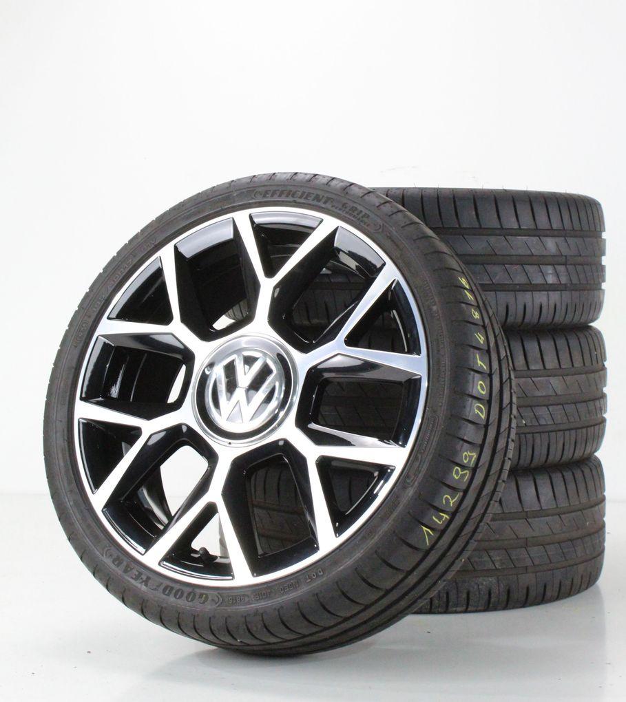 VW UP GTI 1S Sommerräder 17 Zoll Alufelgen Brands Hatch Felgen 1S0601025BN