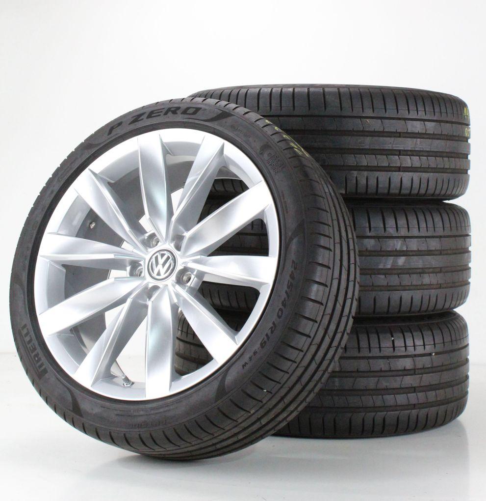 VW Arteon 3H Sommerräder 19 Zoll Alufelgen Chennai silber Felgen 3G8601025C