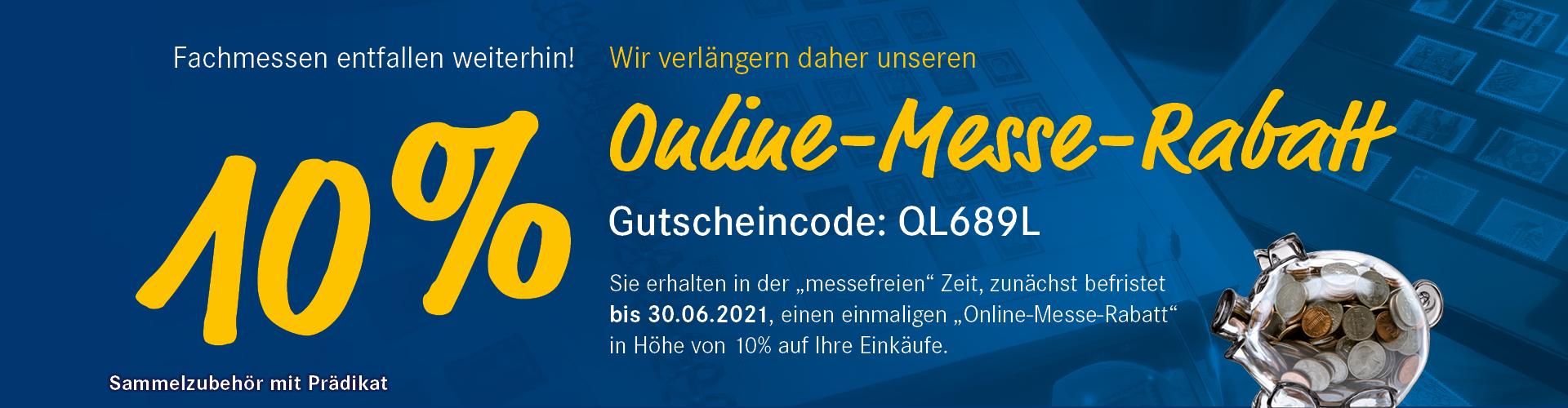 10% Online-Messe-Rabatt
