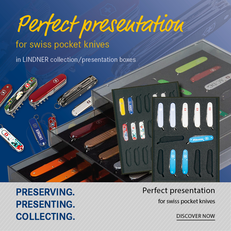 Perfect presentation for swiss pocket knives