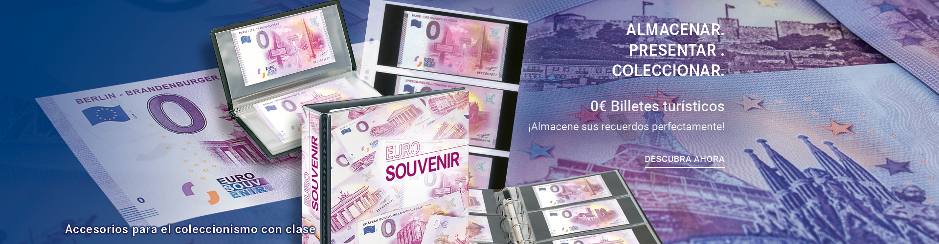 Billetes turisticos euro souvenir