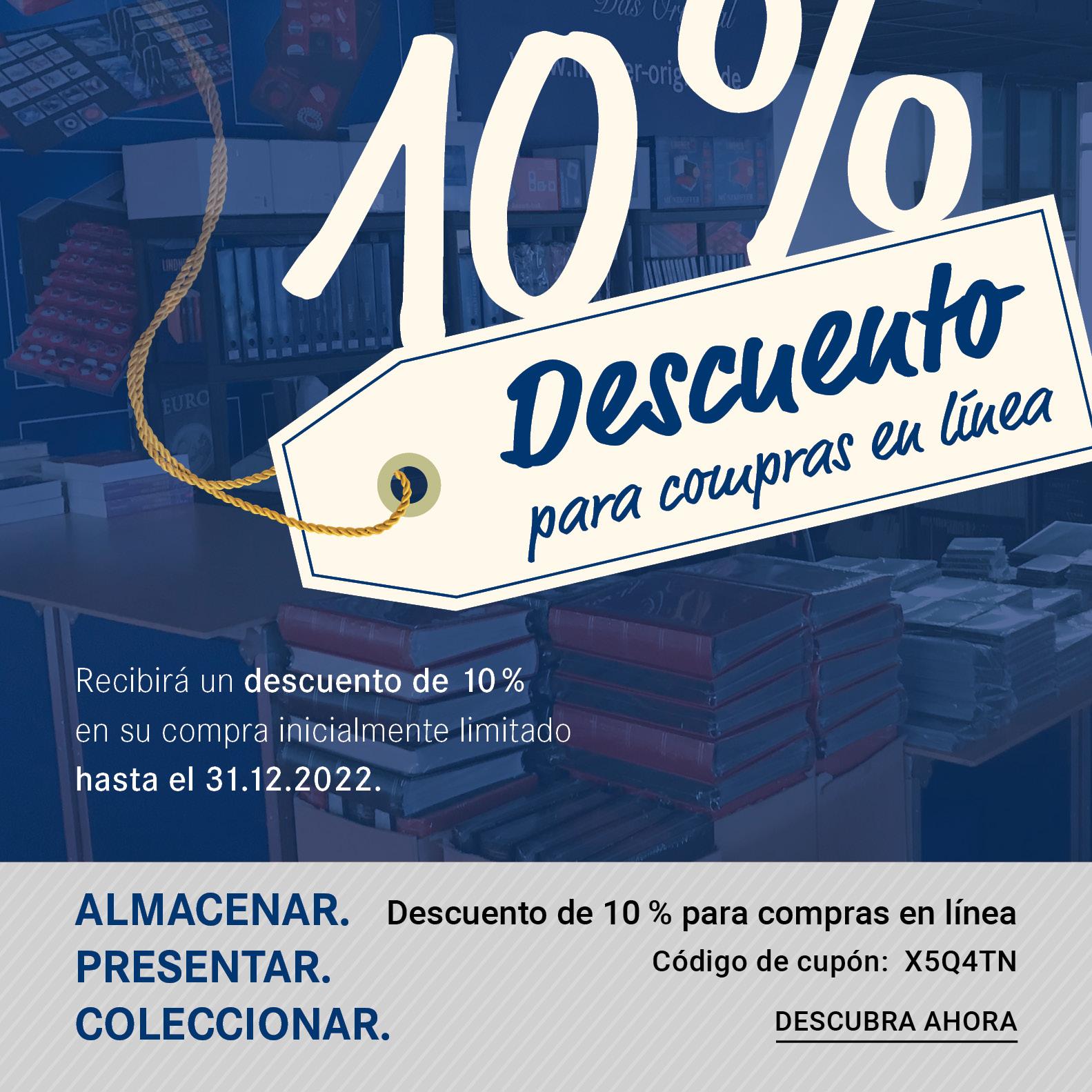 10% Descuento para compras en línea