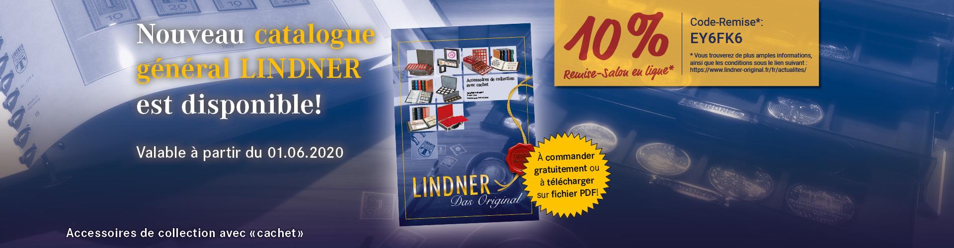 Catalogue Général LINDNER et Remise-Salon en ligne