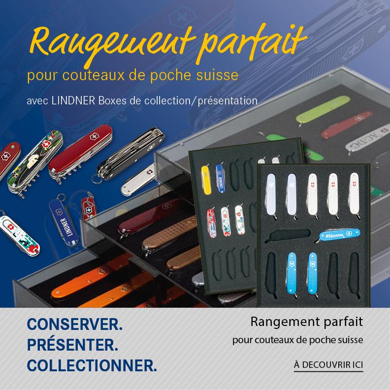Rangement parfait pour couteaux de poche suisse