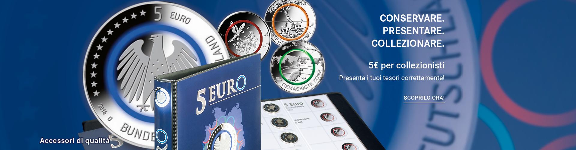 5 EURO PER I COLLEZIONISTI CON ANELLO POLIMERICO