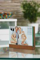 """Bilderrahmen """"Holz/Glas"""", groß, 17,8 cm, braun"""