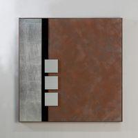 "Wandbild ""Quadro"", 80 cm, braun-schwarz-silber"