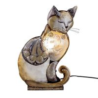 "Lampe ""Katze Muschel"", 35 cm, brauntöne"
