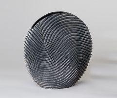 """Deko Vase """"Elvira"""", 30 cm, grau"""