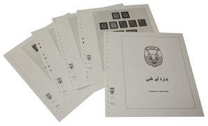 Abu Dhabi - Feuilles pré-imprimées Année 1964-1972