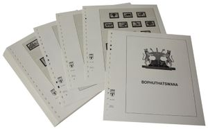 Bophuthatswana - Illustrated album pages Year 1977-1994