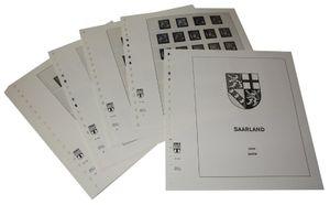 Allemagne Saarland - Feuilles pré-imprimées Année 1947-1959