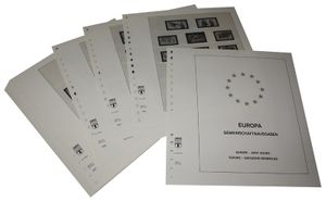 Europe special territories Europe CEPT - Illustrated album pages Year 1981-1984