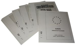 Europe special territories Europe CEPT - Illustrated album pages Year 1990-1992