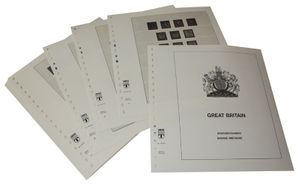 Great Britain - Illustrated album pages Year 1952-1969