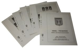 Israel Definitive stamps, paper and phosphor variations - Illustrated album pages Year 1965-1998