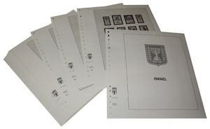 Israel with tabs - Illustrated album pages Year 1980-1989