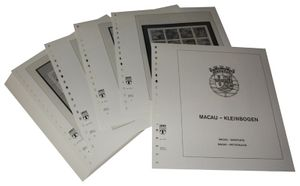 Macao Sheetlets - Illustrated album pages Year 1985-1999